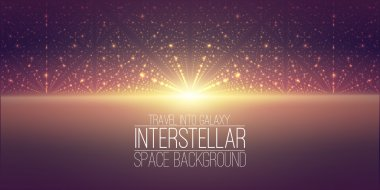 interstellar space background.Cosmic galaxy illustration. with nebula, stardust and bright shining stars.  for party ,artwork, brochures, posters.