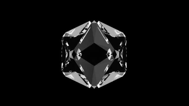 Gyönyörű lassan forgó gyémánt. Zökkenőmentes hurok 4k cg 3d animáció, szép hurok elvont háttér.