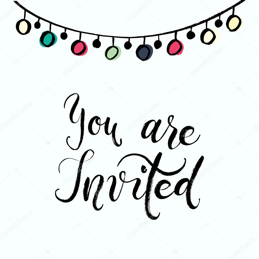 You are invited to the party — Stock Vector © SpencerianSisters ...