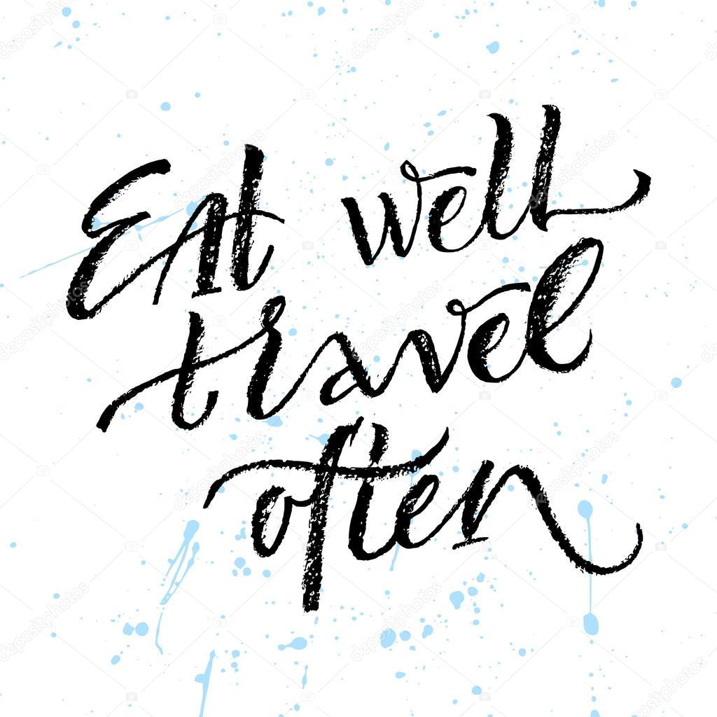 eat well travel often ストックベクター spenceriansisters 124060726