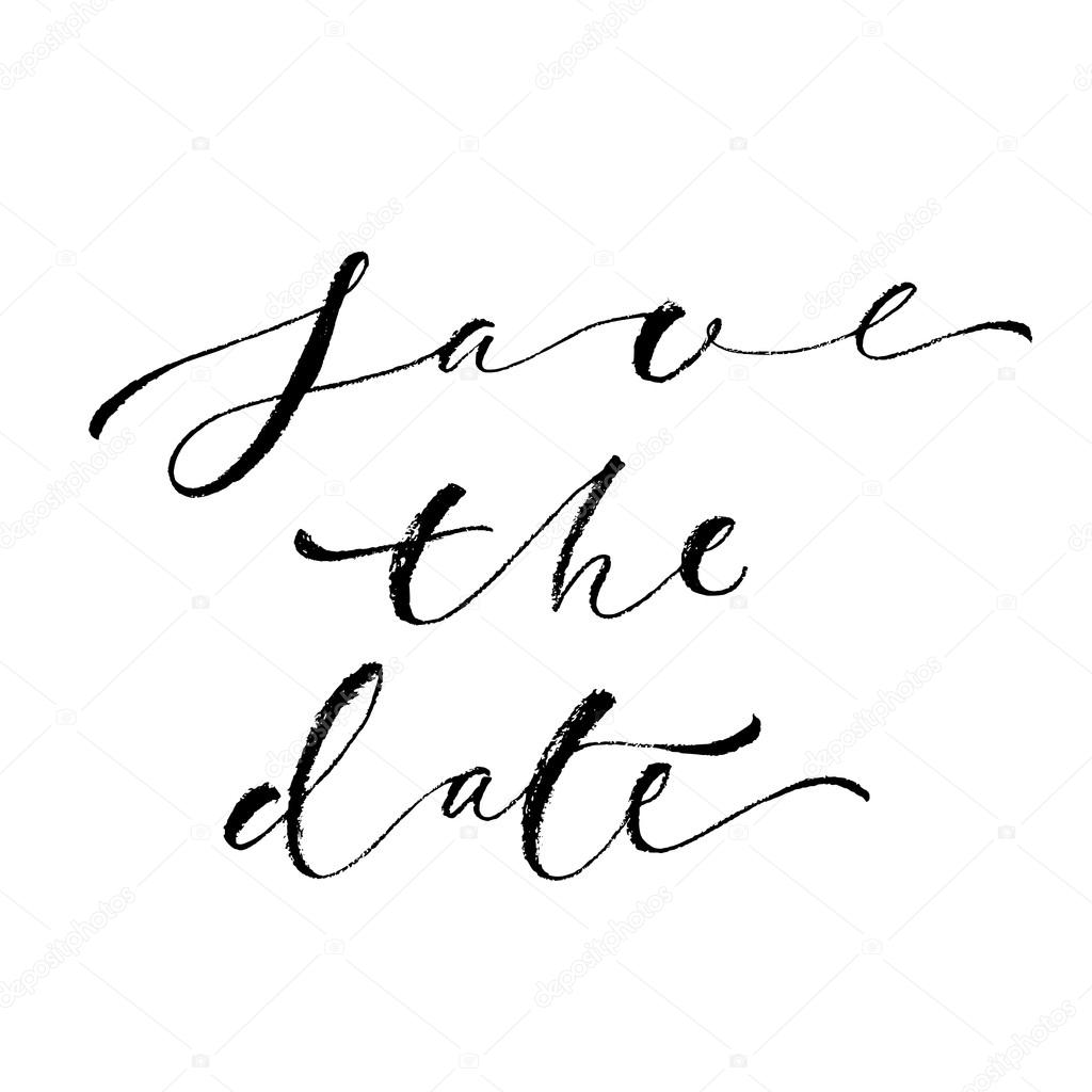 Save the date card template. — Stock Vector © SpencerianSisters ...
