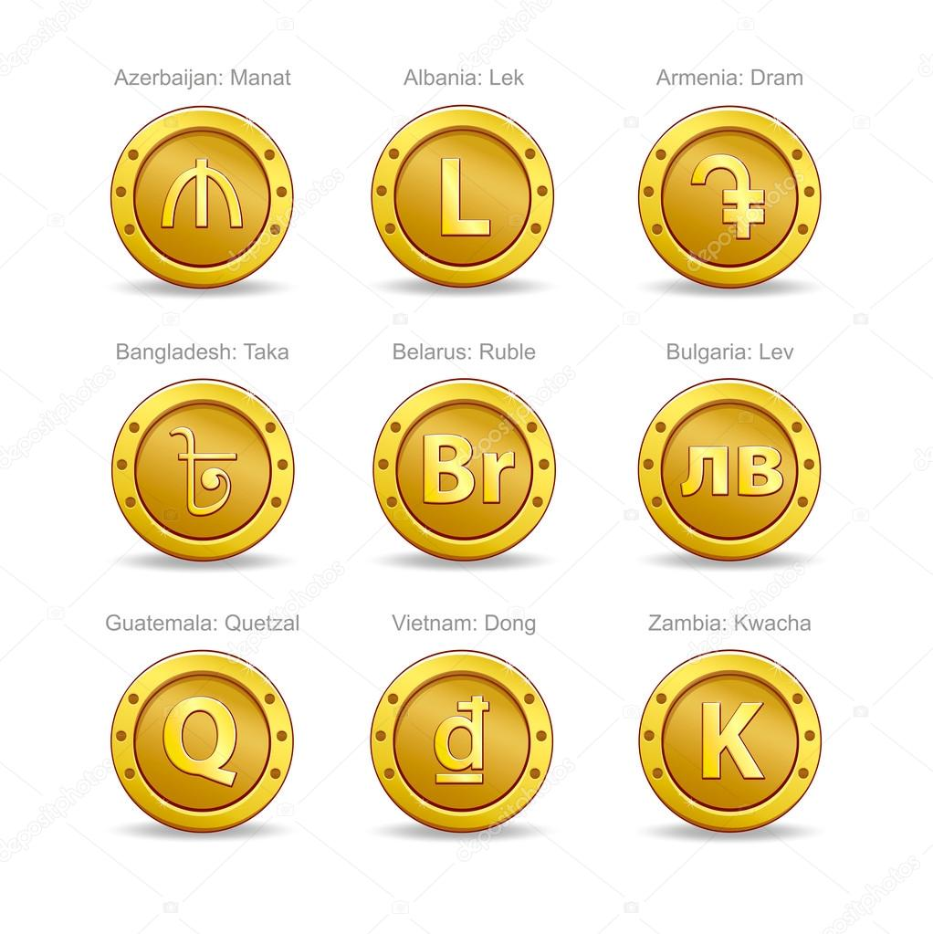 Currency ticker symbols images symbol and sign ideas set coins symbol currency stock vector poslawskaya 123367688 set coins symbol currency stock vector 123367688 buycottarizona biocorpaavc