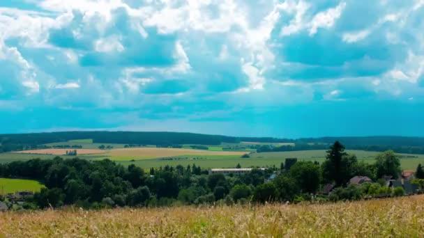 Krajina s cian mraky Timelapse
