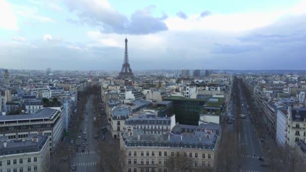 Pohled na centrum Paříže