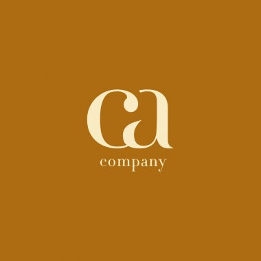 CA Joint Letters Business Company Logo Vector stock vector