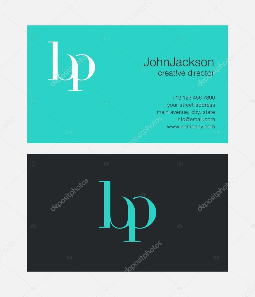 BP Letters Logo Business Cards — Stock Vector © brainbistro #124473458
