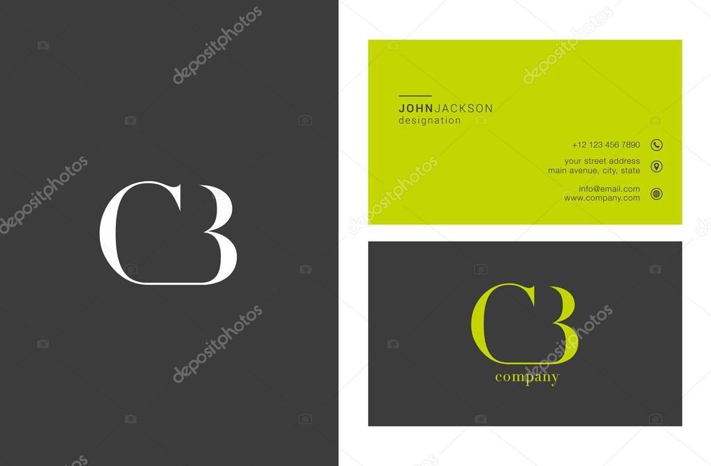 Joint De CB Lettres Logo Avec Des Cartes Visite Template Vecteur Par Brainbistro