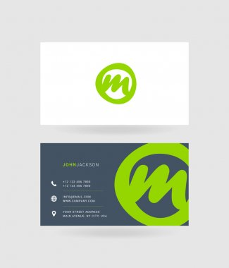 Business cards letter M logo