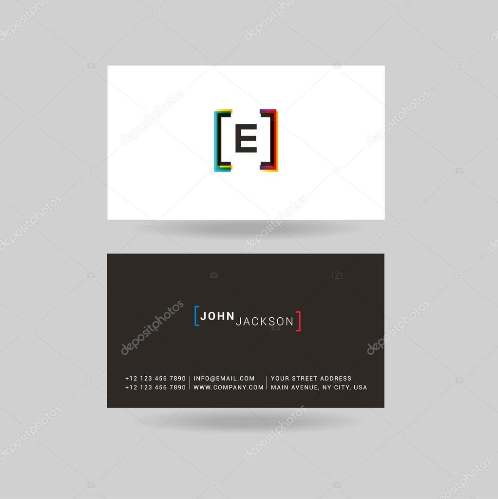 Business E Cards Gallery - business card template word