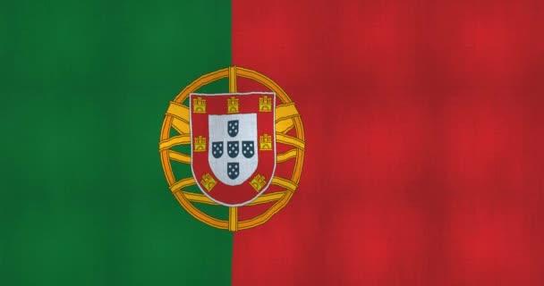 a szélben bontakozó portugál zászló animációja