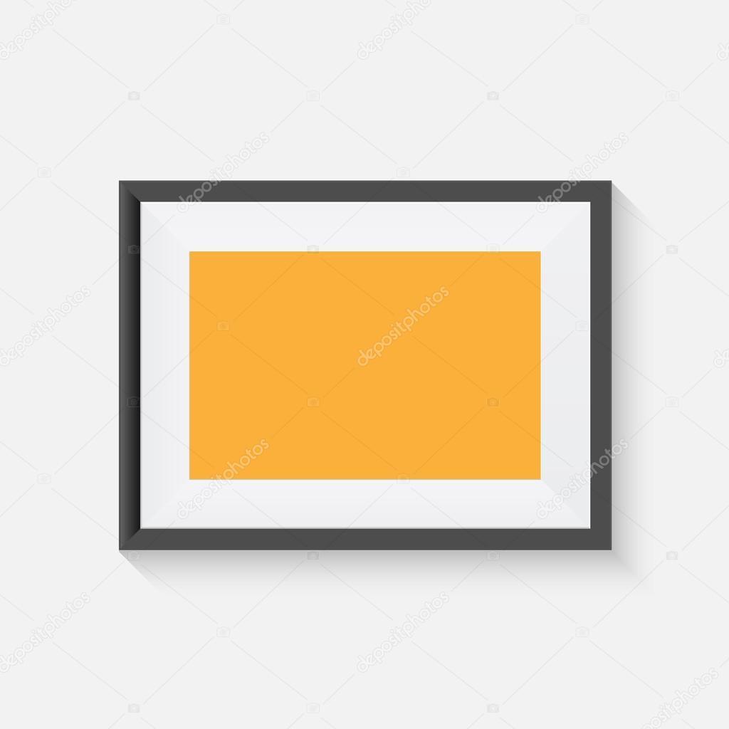 Realistisches Bild Frame Modell. Vektor Kunst Rahmen Mock-up ...