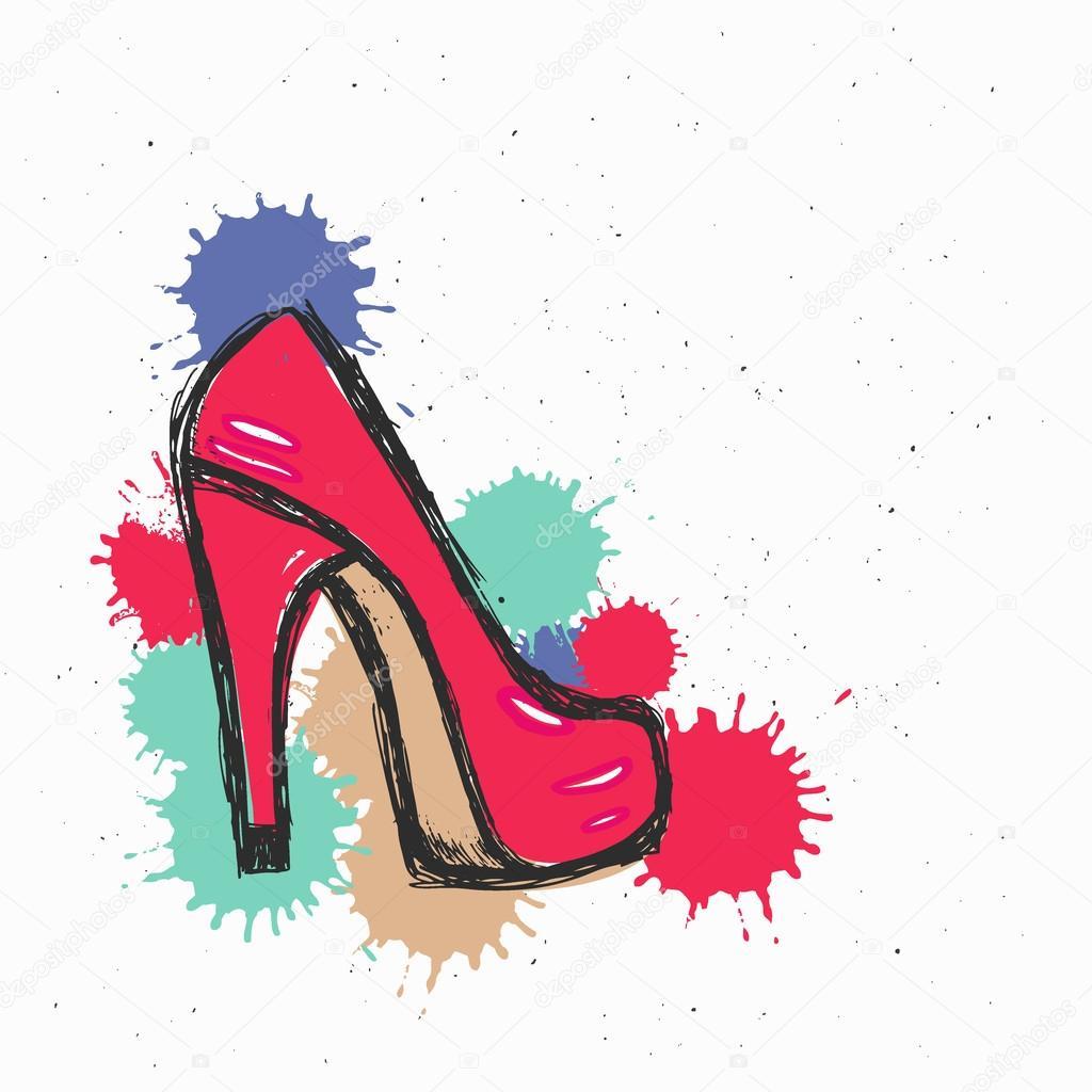 Resultado de imagen para zapatos rojo dibujos