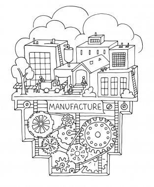 factory work with working people