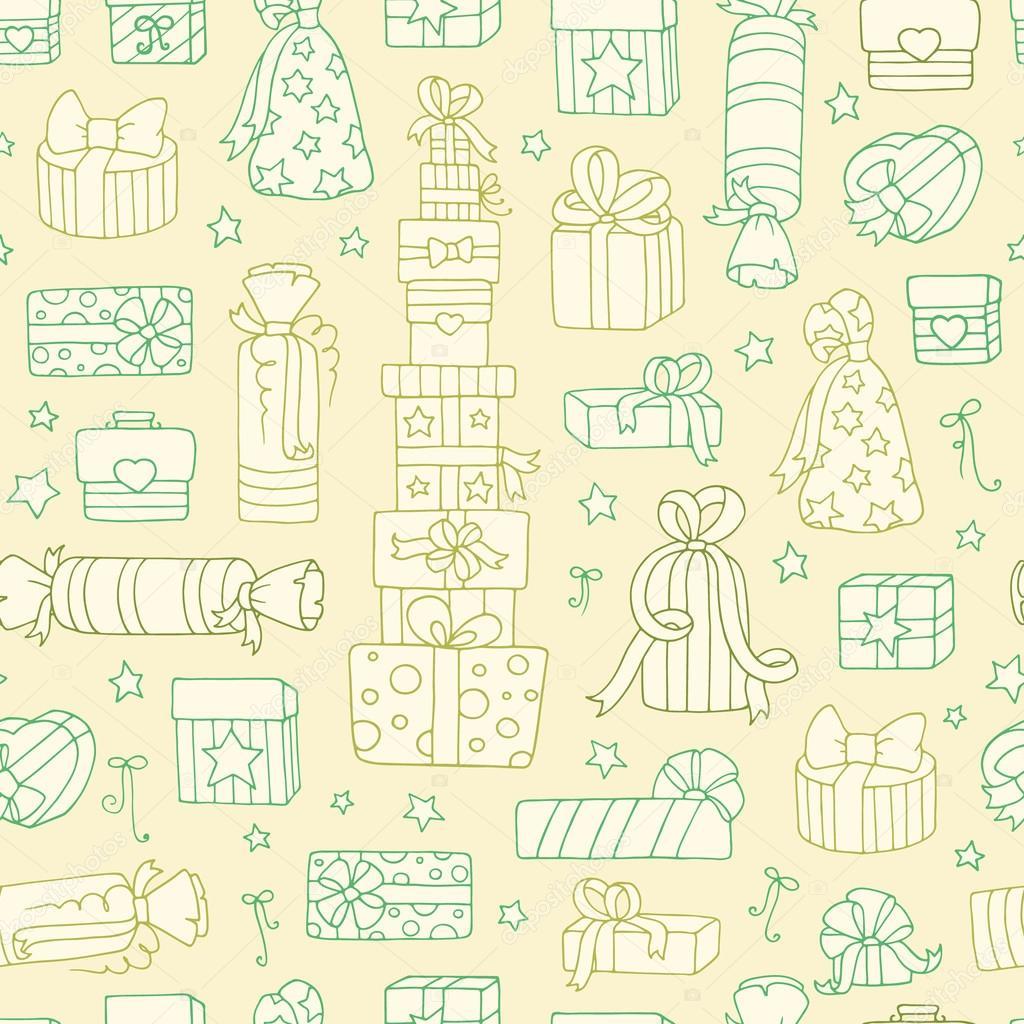patrón sin costuras con las cajas de regalo — Archivo Imágenes ...