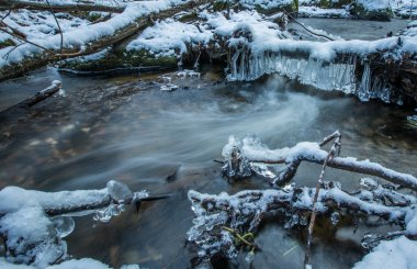 flowing winter waters