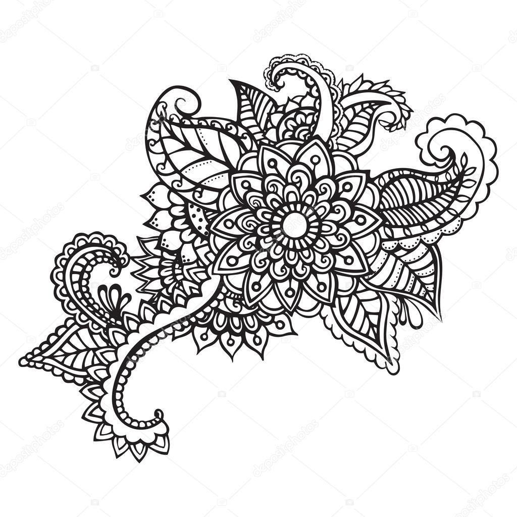 Imagenes Zentangle Flores Flores Abstractas Zentangle Flor De