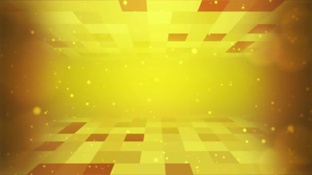 futuristické pozadí tmavě zlatá retro mřížka grafická technologie smyčka animace.