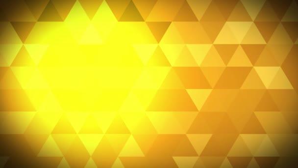 Animace zlatého abstraktního polygonálního geometrického povrchu.