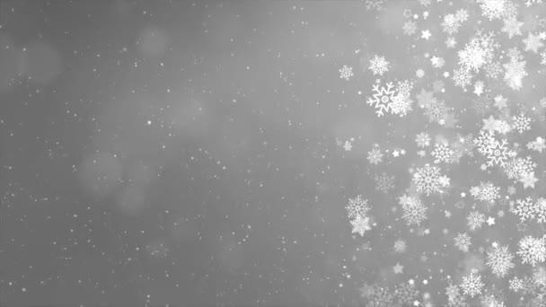 Vánoce, Snowy Loop Background. Dovolená zimní krajina pro Veselé Vánoce