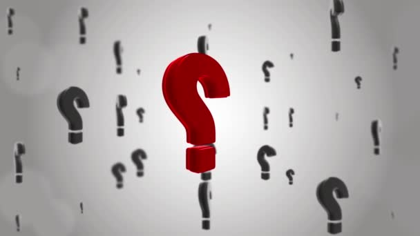 Red Black Questions mark swing with focus blur Loop Background Animation.
