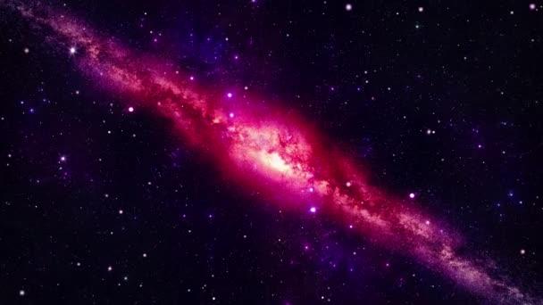 4k 3D Mléčná dráha Galaxy Universe galaxie časová prodleva, noční obloha hvězdy Smyčka pozadí.