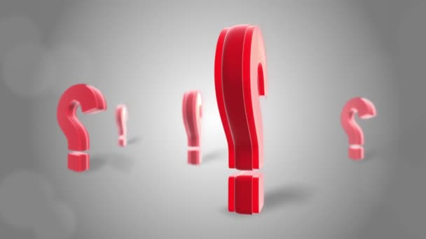 Question mark Red sign wall 3d Rotation Loop Animation