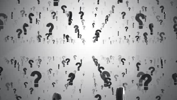 Abstract animation of question marks symbols icon Loop Background.