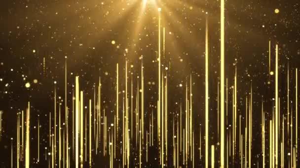 4K Gold luxusní třpytivé hvězdy prach stezka Lopp Animace.