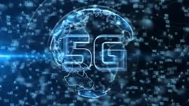 5g High Speed Connection of Internet of things IOT loop Background.