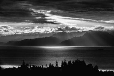 Early morning sunrise at Kachamak bay