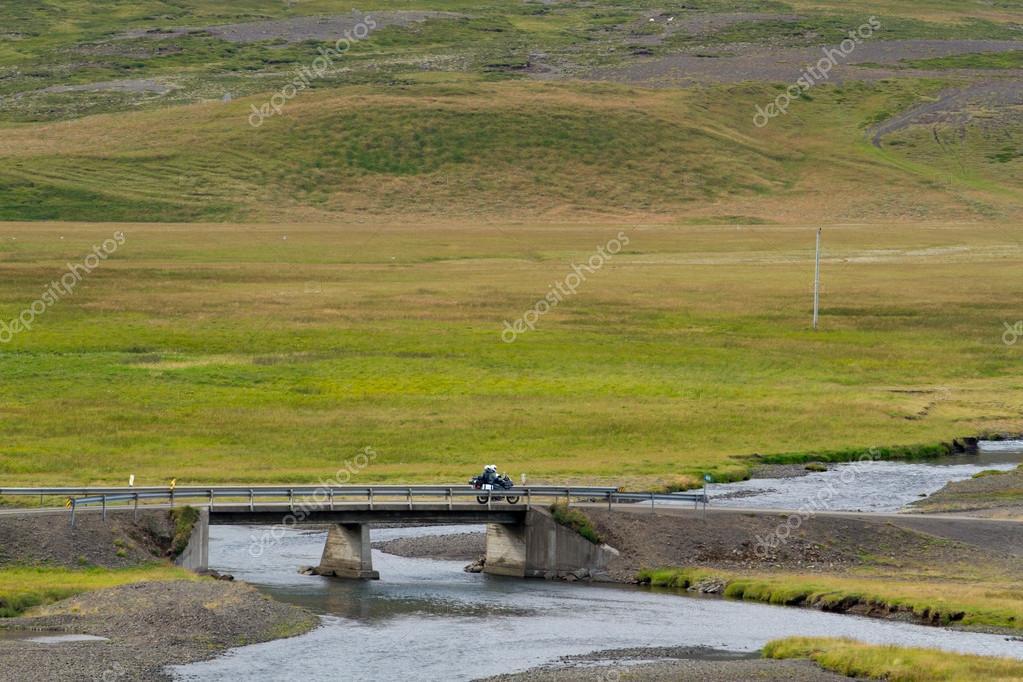 bridge over Icelandic river.