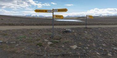 Icelandic  road sign