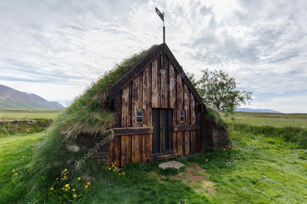 Old turf and peat church Grafarkirkja