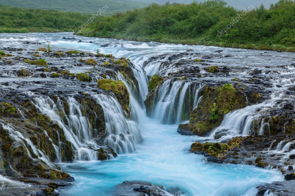 Waterfall Bruarfoss at  Iceland