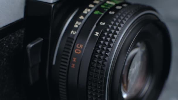 Vintage photo camera lens details