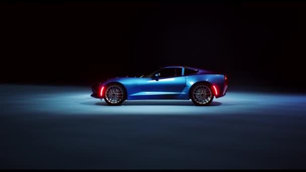 3D vizualizace auta ve tmě