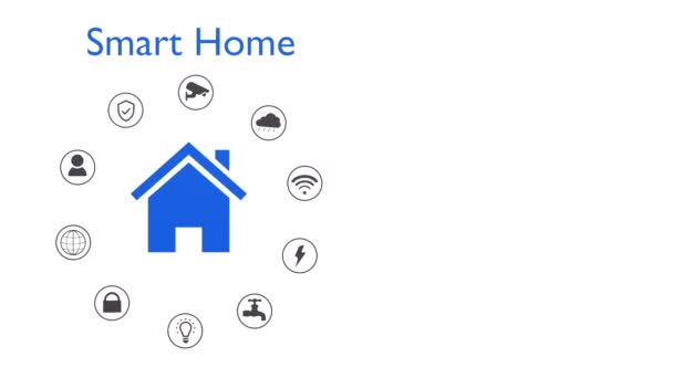 Smart Home Konzept Animation, Fernbedienung