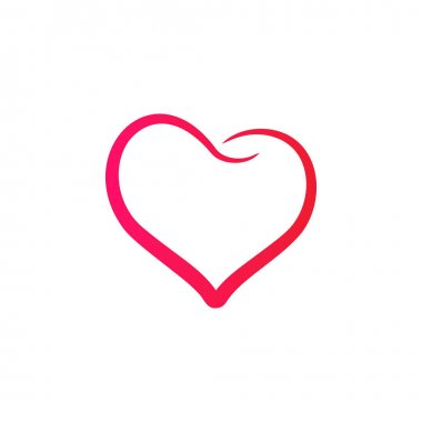 Abstract heart icon vector illustration icon