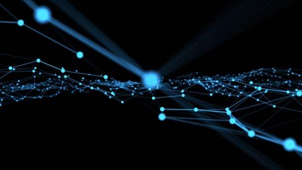Welle von Verbindungsnetzwerken Punkte innovativer Schöpfung