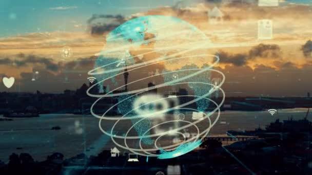 Globale Vernetzung und die Modernisierung des Internetnetzes in Smart City