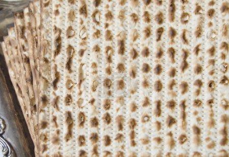 Texture of jewish passover matzah (unleavened bread)