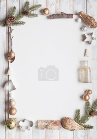 Christmas greeting card with copy space
