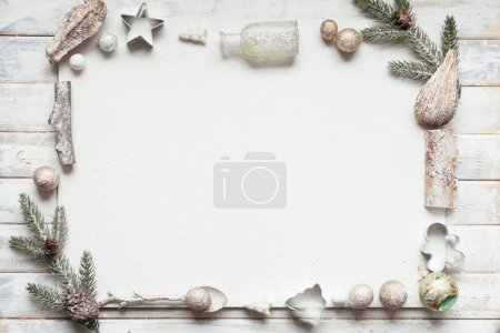 Snowbound Christmas greeting card with copy space