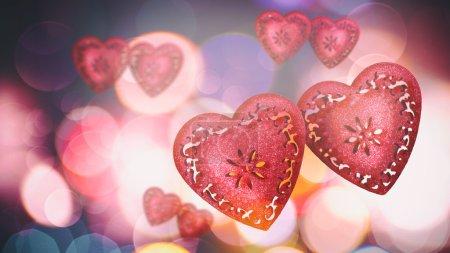Read hearts wedding background