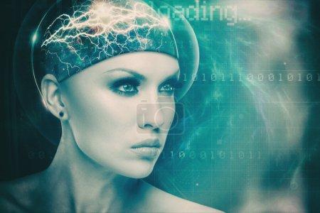 Futuristic female portrait