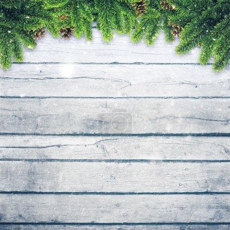 Pine  brunches on desk