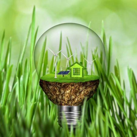 Foto de Fondo ecológico abstracto. energía alternativa y concepto de poder - Imagen libre de derechos
