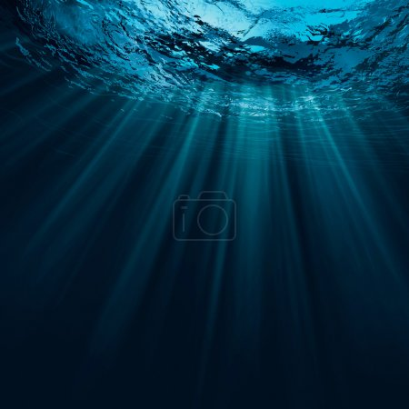 Deep water natural background