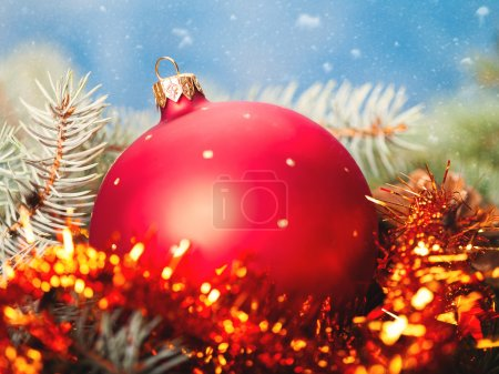 shiny holiday decorations