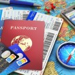 Creative abstract business travel and tourism conc...